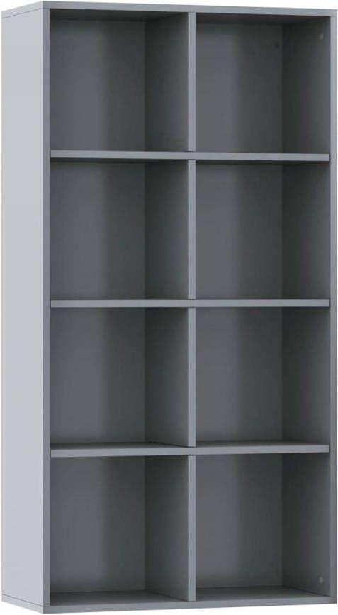 VidaXL Boekenkast/dressoir 66x30x130 Cm Spaanplaat Hoogglans Grijs online kopen