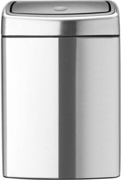 Brabantia Touch Bin Rechthoekig 10 Liter Matt Steel