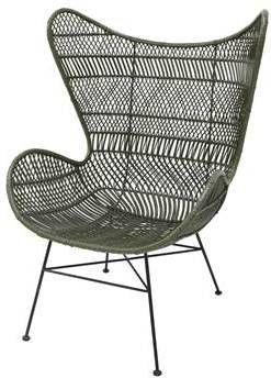 Egg Chair Kopen.Hkliving Bohemian Eggchair Rattan 82 X 110 Cm Olijfgroen Meubelmooi Nl