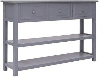 VidaXL Dressoir 115x30x76 cm hout grijs online kopen
