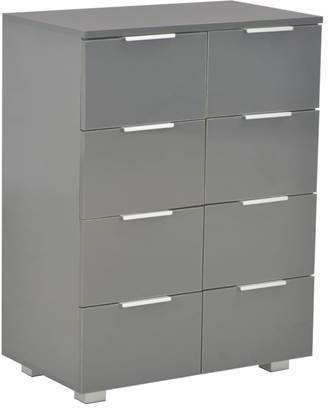 VidaXL Dressoir 60x35x76 cm spaanplaat hoogglans grijs online kopen