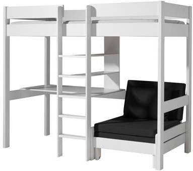 Vipack Hoogslaper Pino met zetelbed wit (90 X 200) online kopen