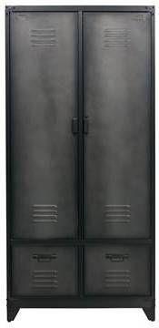Vtwonen Lockerkast 'Safe' 190cm metaal, kleur Zwart online kopen