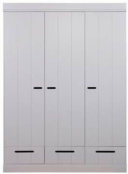 WOOOD Kledingkast 'Connect' 3 deuren en 3 laden, kleur betongrijs online kopen