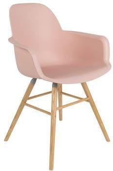 Zuiver eetkamerstoel Albert Kuip aluminium old pink met armsteun 82 x 59 x 55 online kopen