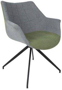 Zuiver eetkamerstoel Doulton Polyester groen 80 x 67 x 61 online kopen