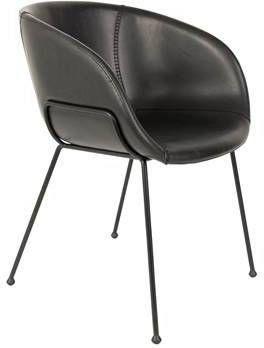 Zuiver eetkamerstoel Feston PU-Leder zwart 77 x 57 x 55 online kopen