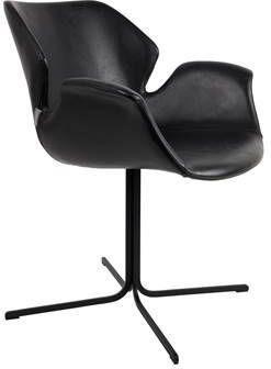Zuiver eetkamerstoel Nikki PU-Leder all black 80 x 66 x 62 online kopen