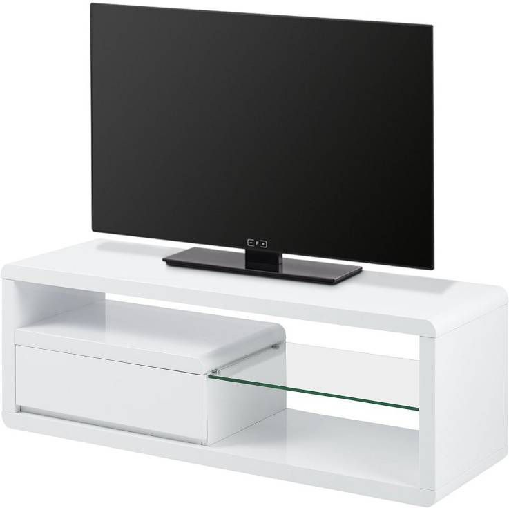 Tv Kast Jasmijn Wit.Tv Meubel 120 Cm Wit Meuble Gallery Collection