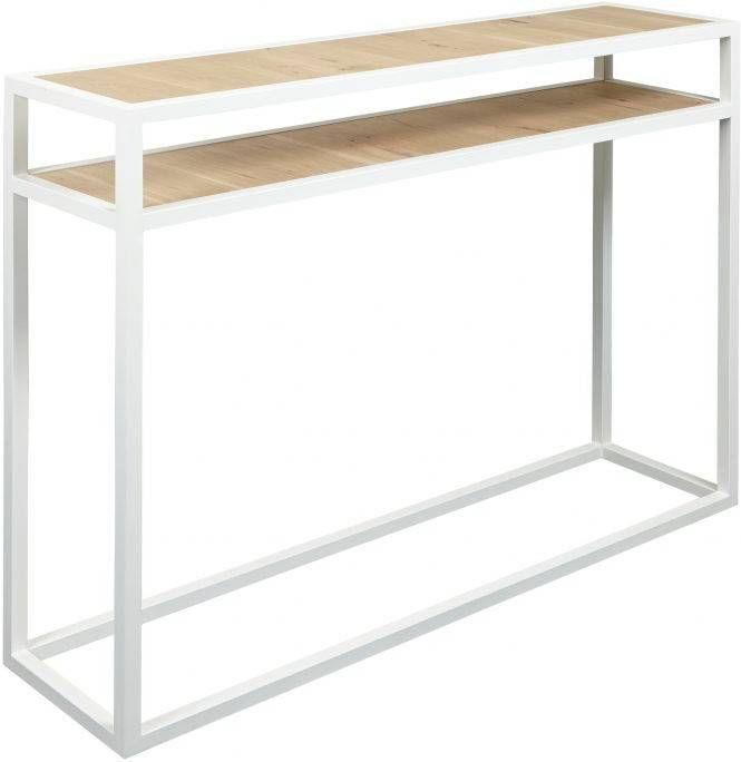Sidetable 90 Cm Hoog.Spinder Design Diva Bijzettafel 30 X 120 X 90 Cm Wit Eiken