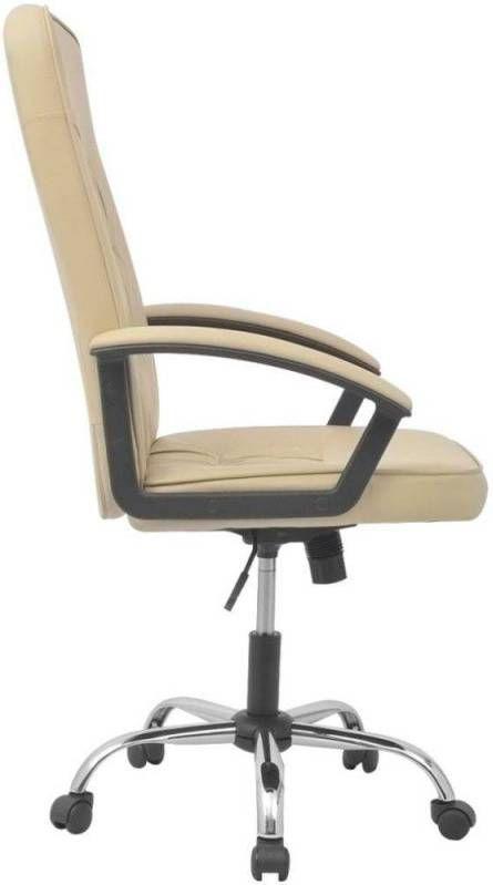 Bureaustoel 55x63 cm kunstleer gebroken wit