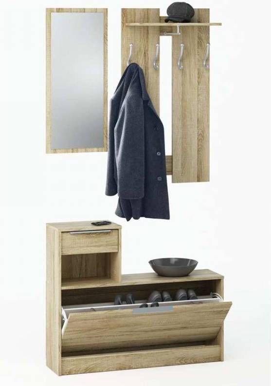 Home24 Garderobeset Stillwater 3 Delig Mooved
