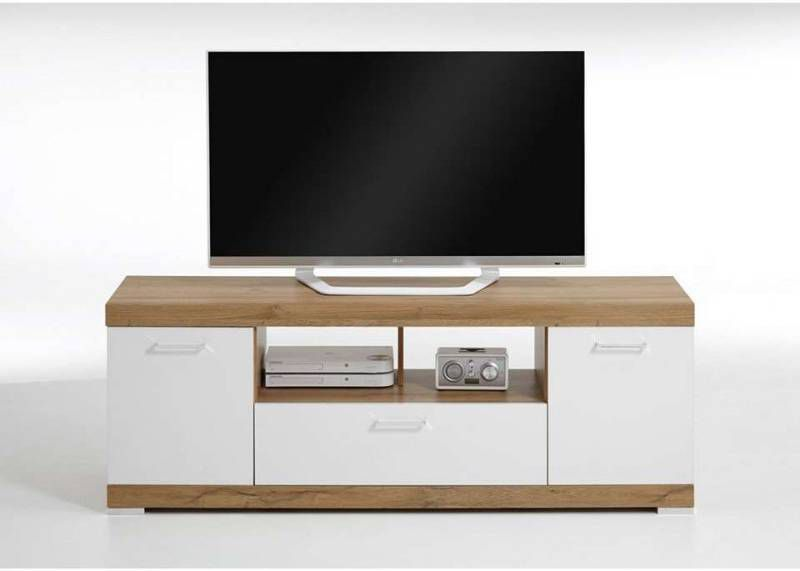 Tv Kast Leenbakker.Tv Meubel Bristol Oud Eikenkleur Wit Edelglans 120x50x35 Cm