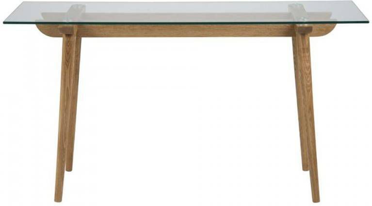 Witte Sidetable Leenbakker.Salontafel Billum Transparant 40x120x60 Cm
