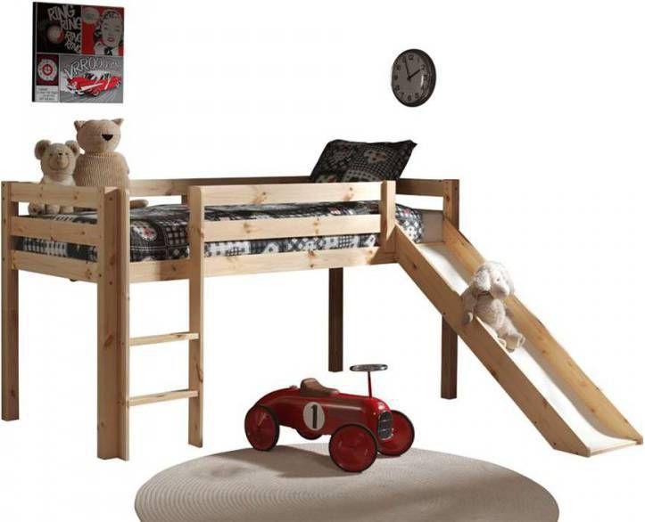 Vipack Hoogslaper Pino houtkleur glijbaan 1 (90 X 200) online kopen