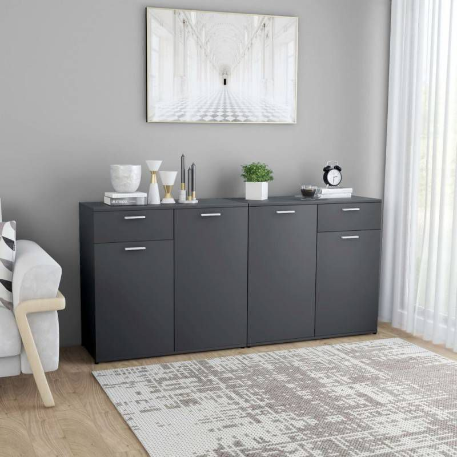 VidaXL Dressoir 160x36x75 cm spaanplaat grijs online kopen