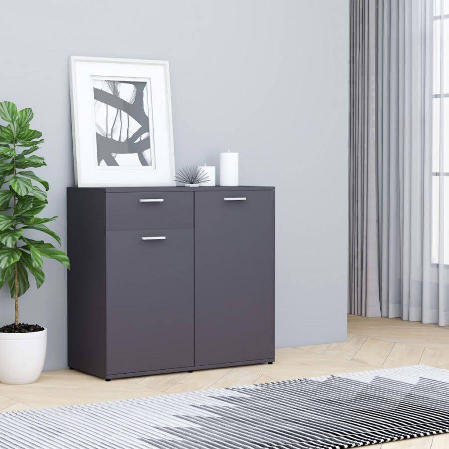 VidaXL Dressoir 80x36x75 cm spaanplaat grijs online kopen