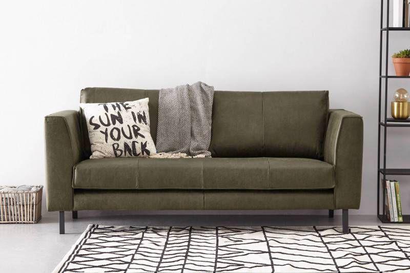 Leren zitsbank goedkoop meubelen lederen leer bankstel hoek