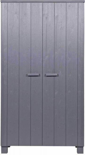 Woood Dennis Kast Grenen Steel Grey Geborsteld Fsc