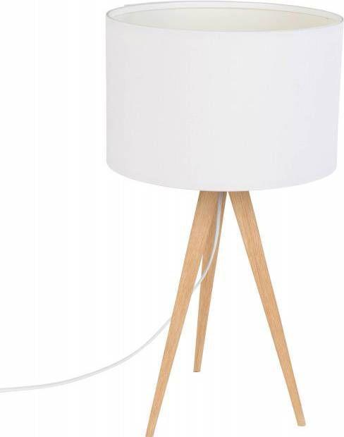 Zuiver tafellamp Tripod wood zwart 51 x ø28