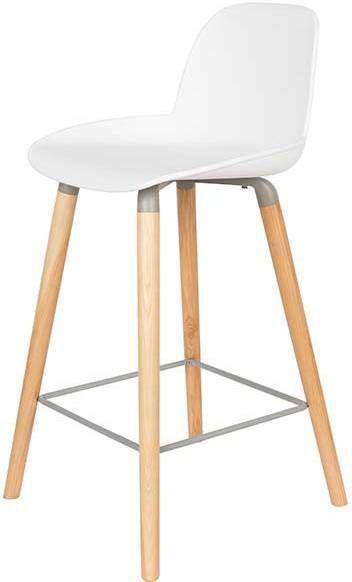 Zuiver albert kuip stoel counter hout kunststof 45 x 89 cm for Zuiver albert kuip