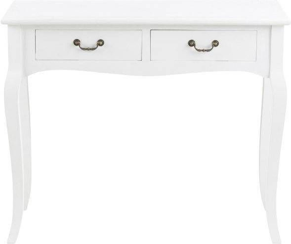 Barok Witte Sidetable.Wandtafel Francine 75x92x39 Cm